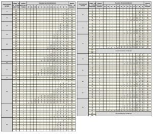 TABLA VI – TABLA DE DESCOMPRESION PARA INMERSIONES EXCEPCIONALES CON AIRE